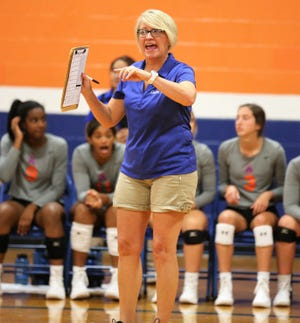 San Angelo Central High School head volleyball coach Connie Bozarth is her 34th season overall and 18th with the Lady Cats in 2019.