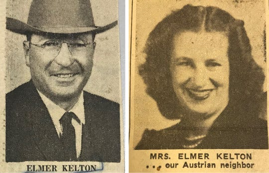 Elmer Kelton married Anni Lipp while serving in Europe, and the two married and carved out a life in San Angelo, Texas.