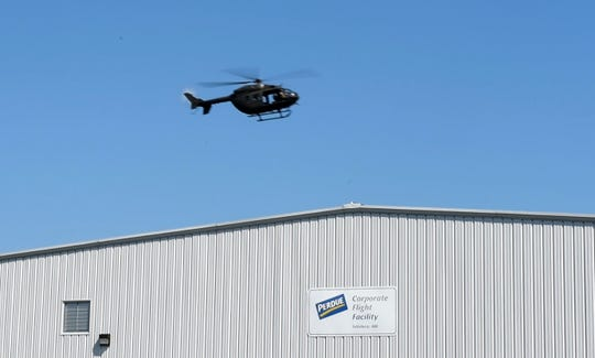 Perdue maintains its own hangar with two corporate jets at the Salisbury-Ocean City Wicomico Regional Airport, and here it sits on Aug. 8 2019.
