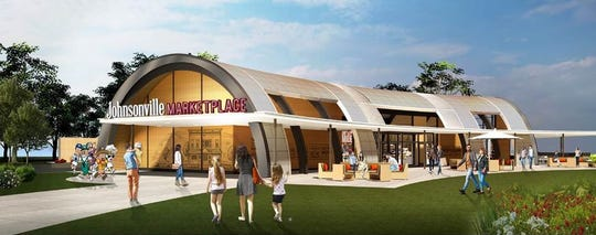 A rendering of Johnsonville Marketplace, planned to open in May 2020.