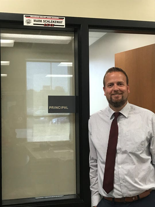 Mark Schlekeway is in his first year as the principal at Brandon Valley High School.