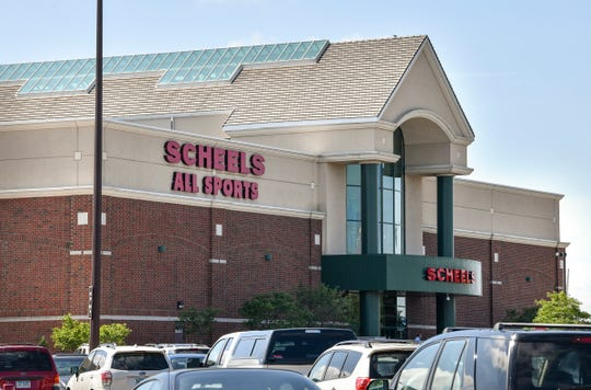 The SCHEELS store at Crossroads Center is pictured Friday, Aug. 23.