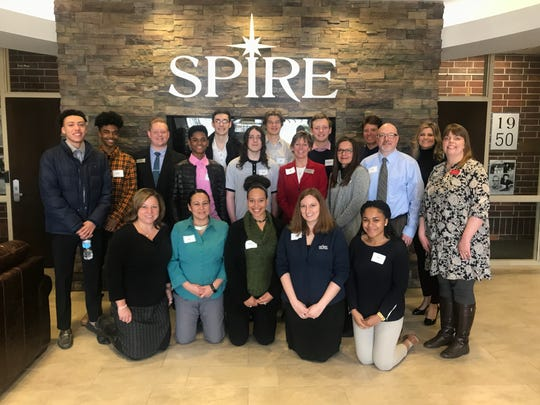 SPIRE Credit Union staff pictured with Minnehaha Academy High School students who participated in the BestPrep eMentors program.