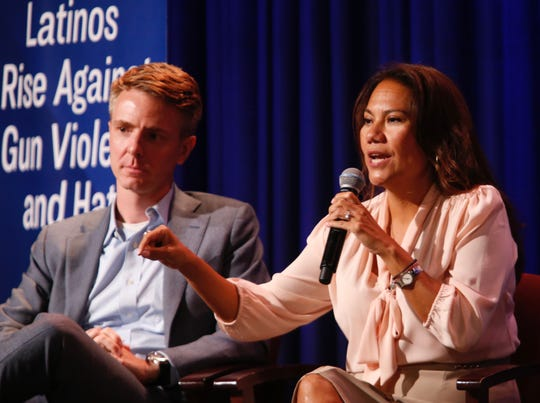 U.S. Rep. Veronica Escobar said U.S. leaders should be held responsible for rhetoric that demonizes Hispanics and immigrants at Thursday's town hall.