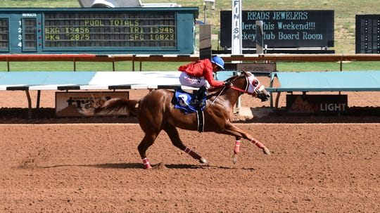 Lil Miss Sashay qualified for the All American Futurity on Labor Day at Ruidoso Downs Racetrack and Casino.