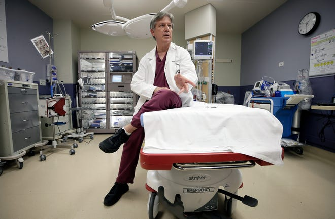 Dr. Alan Tyroch, UMC's trauma medical director and founding chair of surgery at Texas Tech University Health Sciences Center El Paso's Paul L. Foster School of Medicine, talks about his team's response to the Aug. 3, 2019, mass shooting at an East Side Walmart.