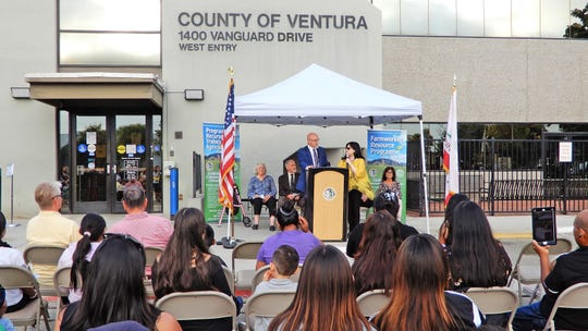 A Ventura County Farmworker Resource Program launch ceremony takes place Thursday at the progran's offices in Oxnard.