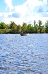 A quiet moment during a musky tournament at Moen Lake in Rhinelander, September 9, 2012.