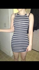A photo of the dress Hope Hill's daughter was wearing the day she was sent home from summer school.