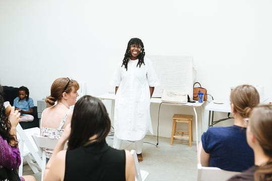 Chanel L. Porchia-Albert, founder and executive director of New York City-based Ancient Song Doula Services, offers trainings and doula services.
