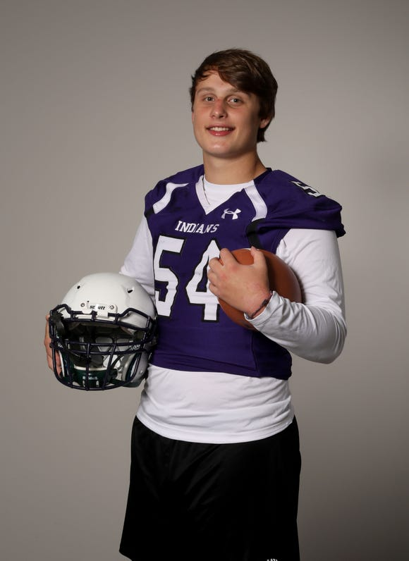 Shane Martinsen, the football defensive end and offensive tackle for John Jay (Cross River) High School, photographed Aug. 23, 2019.