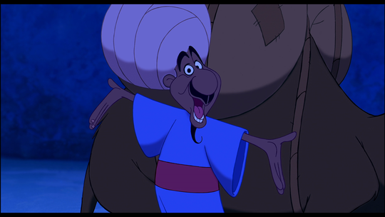 "The peddler from ""Aladdin"" had another identity: Genie."