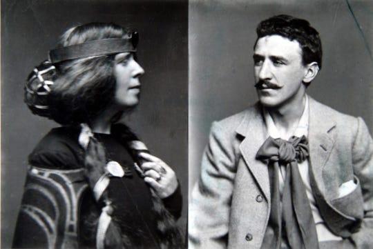 Charles Rennie Mackintosh, right, and his wife, the designer Margaret Macdonald Mackintosh.