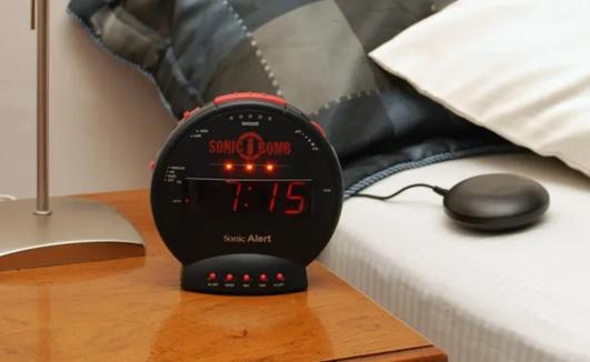 You won't snooze through this alarm clock.