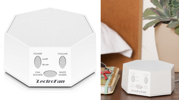 Choose between white noise or fan sounds.