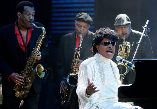 Little Richard performs at The Domino Effect, a tribute concert to New Orleans rock and roll musician Fats Domino, at the New Orleans Arena in New Orleans, May 30, 2009.
