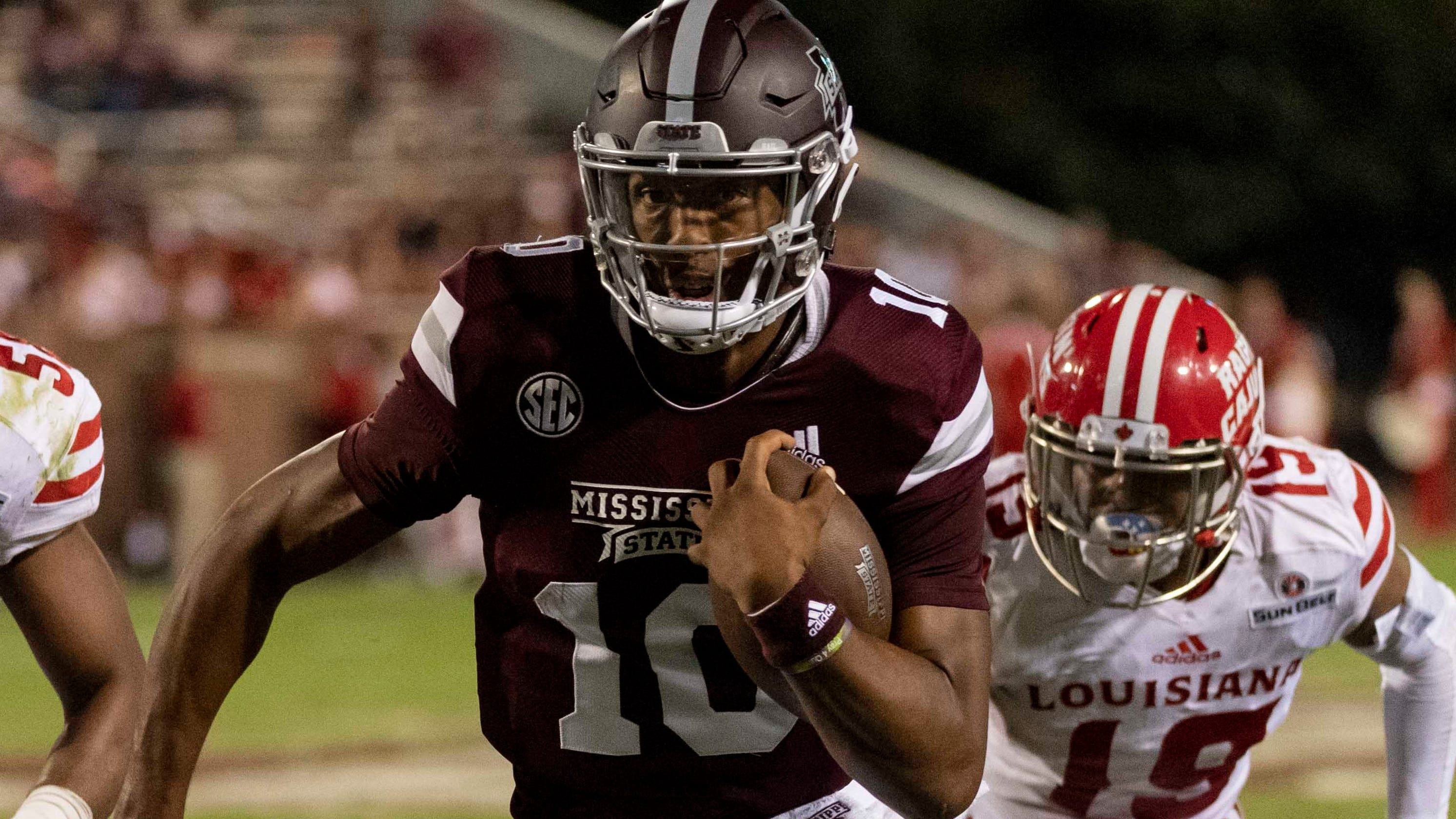 Mississippi State QB Keytaon Thompson enters NCAA transfer portal after starting snub