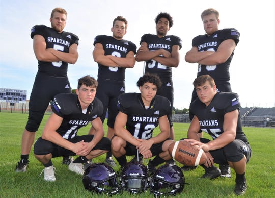 Returning leaders for Lakeview, include back row, from left, Tanner Underwood, Jack Goodman, Tayvon Hughes, Zac Brower. Front row, Jackson Kitchen, Connor Smith and Nic Saumier.
