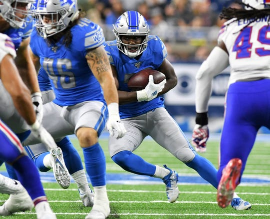 Kerryon Johnson's  5.43 yards a carry makes him a consideration for fantasy drafters.