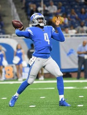 Lions quarterback Josh Johnson threw for 71 yards on 5-for-10 passing in Friday's preseason loss to the Bills.