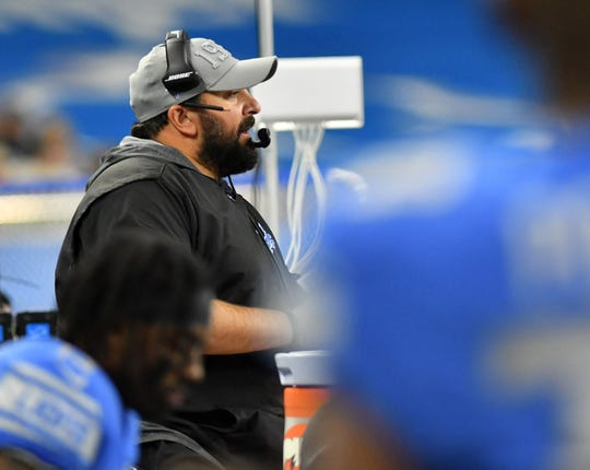 Matt Patricia is coaching at the Senior Bowl this week.