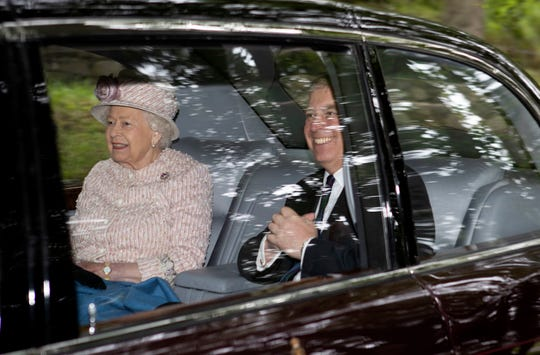 Britain's Queen Elizabeth II and Prince Andrew, the Duke of York