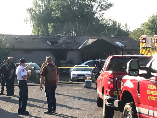 Two adults died in this early Saturday morning house fire in the 7800 block of Costigan Avenue in south Fort Collins.