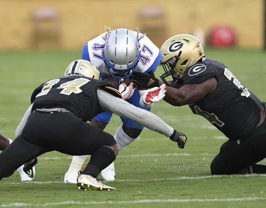 Greer played host to Byrnes during Week 0 of the high school football season