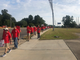 Communication Workers of America Local 3517 members are part of a nine-state strike. They march in Tupelo, Miss., on Saturday, Aug. 24, 2019.