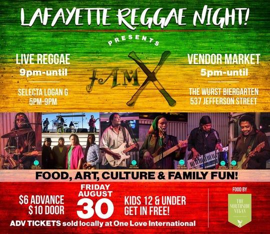 Lafayette Reggae Night poster