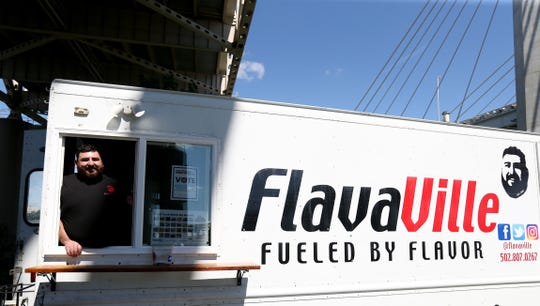 Serge Katz, chef and owner of FlavaVille, brought his Louisville based truck down to the USA Today Network Food Truck Mash Up on Aug. 24, 2019 at Waterfront Park