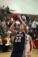 Kelly Mulcahy was a six-time Midwest Conference all-conference selection while playing volleyball and basketball at Lawrence University.