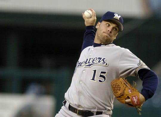 Milwaukee Brewers' Ben Sheets delivers in the second inning against the Anaheim Angels in Anaheim, Calif., Tuesday, June 8, 2004.