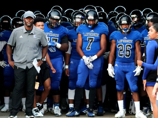 Stanton Stevens (left) and his La Vergne football squad will play host to rival Smyrna Friday.