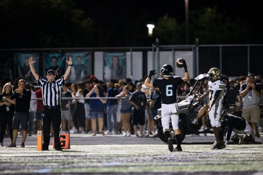 Gulf Coast hosted Golden Gate in their first regular season football game of the year at Gulf Coast High School in Naples on Friday, August 23, 2019. Gulf Coast won the game with a score of 27-0.