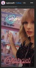 Taylor Swift talking about her trip to the Jersey City Target store on her Instagram story Friday, Aug. 23, 2019