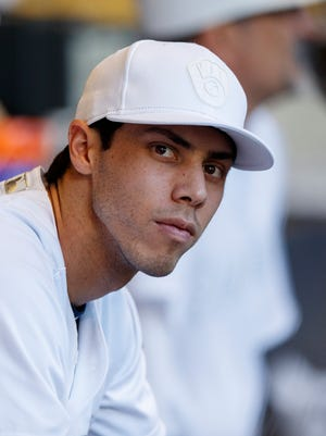 Right fielder Christian Yelich's appearance follows that of former Brewers first baseman Prince Fielder by five years.