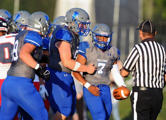 Tyler Cruz(7) and his Cedar Crest will look to improve to 5-0 when they host Hempfield on Friday night.