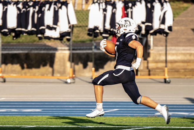 Tyler Luther and the Chambersburg Trojans hope to sprint to a playoff spot this Friday.