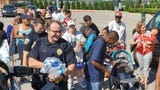 In response to the temporary closure of a local grocery store, Giant Food Stores handed out fresh produce to residents behind the York Revs stadium.