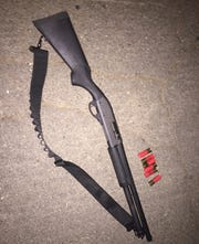 Police found this shotgun at the scene of an alleged shooting in downtown Redding on Saturday, Aug. 24.