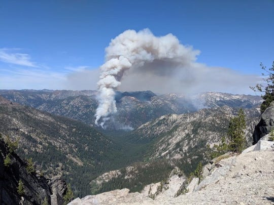 The Granite Gulch Fire is being allowed to partly burn in northeast Oregon's Wallowa Mountains to help forest health.