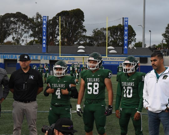 Running back Ezequiel Rodriguez (4) is one of the multiple productive running backs Alisal will trot out Friday against Scotts Valley.