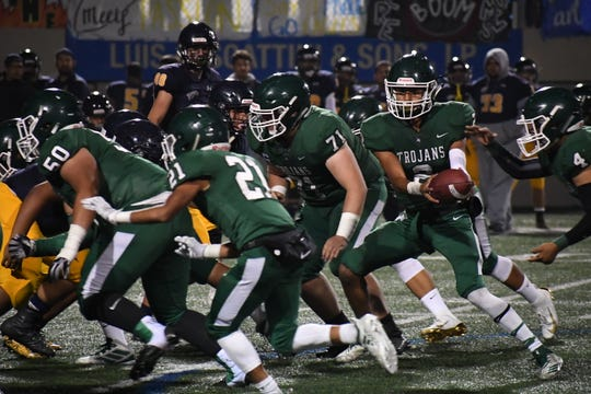 The Alisal Trojans, shown here at the Salinas City Jamboree, host Scotts Valley in this Friday's Game of the Week.