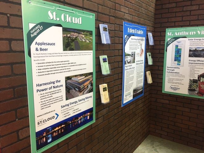 "St. Cloud's energy efforts are on display at the ""Clean Energy Communities"" display in the Eco Experience building at the Minnesota State Fair on Friday, Aug. 23, 2019."