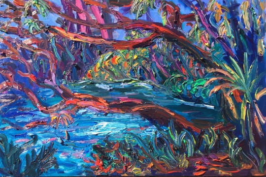 Venvi Gallery is opening the first fall show on Sept. 6 with artist Julie Bowland artwork, show here is Fern Hammock.