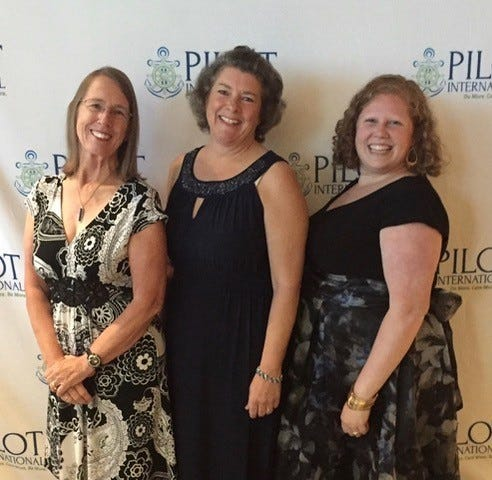 Pilot Club members, left to right,  Claire Mikko, Charlotte Edenfield, Mallory Davis (President), recently attending the Pilot International convention in Chicago.