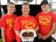 From left to right, Hope Urso, Hope Millward and Ashley McDonald work at the family owned and operated Bill's BBQ in Newfield.