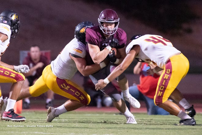 Mt. Whitney hosts Tulare Union in a non-league high school football game at Mineral King Bowl on Friday, August 23, 2019.