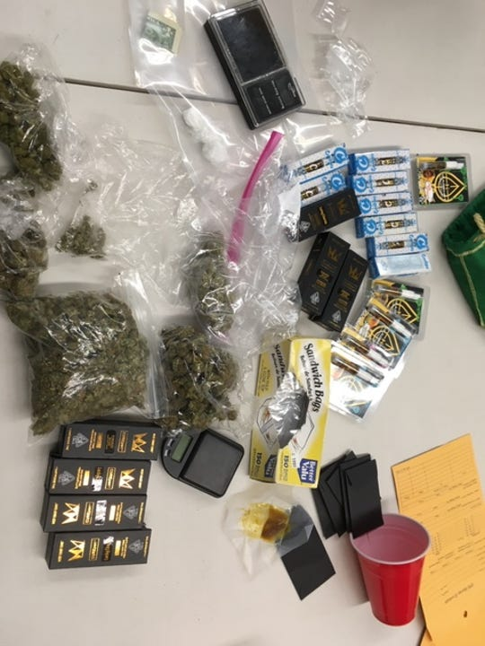 Visalia police found cocaine and marijuana during a probation search on Friday, August 23, 2019.